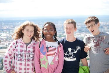 Eine Delegation aus den USA bei einem Ausflug mit ihrer Gastfamilie