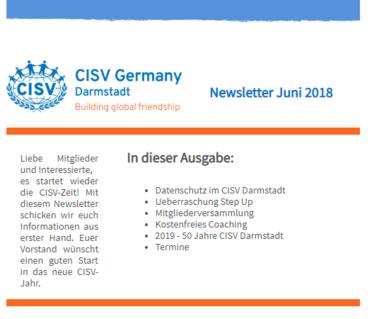 CISV Darmstadt Newsletter